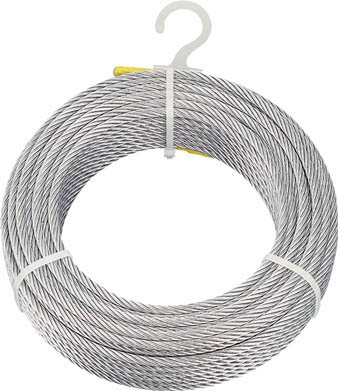 TRUSCO メッキ付ワイヤロープ Φ6mmX200m CWM6S200