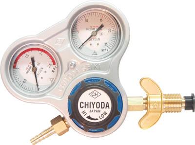 千代田 酸素用調整器スタウト(関西式)乾式安全器内蔵型【SRO-A-W】(溶接用品・ガス調整器)