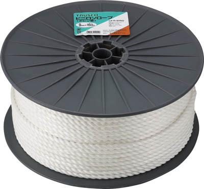 TRUSCO ビニロンロープ 3つ打 線径12mmX長さ100m【R-12100】(ロープ・ひも・ロープ)