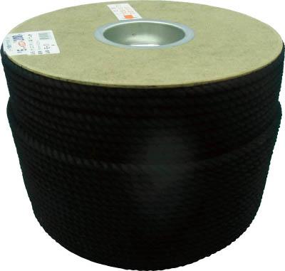 ユタカ ポリエステルロープ ドラム巻 6φ×200m 黒 PRS101