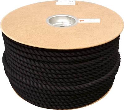 ユタカ ポリエステルロープ ドラム巻 12φ×100m 黒 PRS61