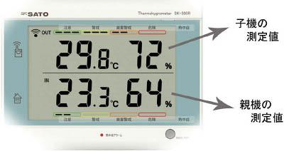 佐藤 最高最低無線温湿度計 SK-300R(8420-00) SK300R