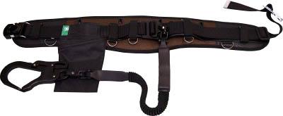 KH フムヘム補助帯付安全帯 ジャバラ駕王 剣フック 自在環 アロッキー 黒-茶 HGKLHB