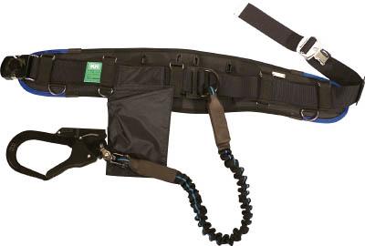 KH エアー式補助帯付安全帯 ジャバラ式 タフアルミ 自在環 アロッキー 黒/青 HWBLKB