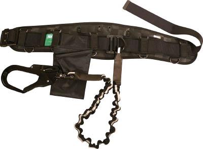 KH 龍牙補助帯付安全帯 ジャバラ式 タフアルミ 自在環 黒/反射 HWSRY
