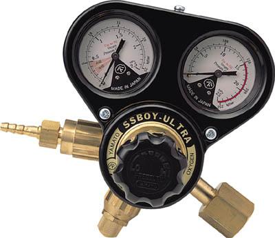 ヤマト 乾式安全器内蔵型調整器 SSボーイウルトラ(OX)関東式【N-SSBUR-OX-E】(溶接用品・ガス調整器)