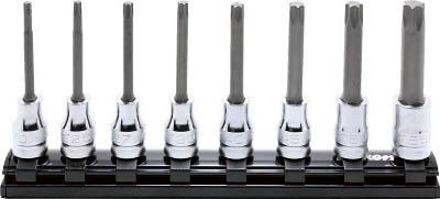 コーケン 9.5mm差込 Z-EALトルクスビットソケットレールセット8ヶ組 RS3025Z8L75