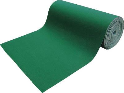 TRUSCO 吸油・吸水ロールマット 緑 フィルム付 幅900mmx25m TFGNF925