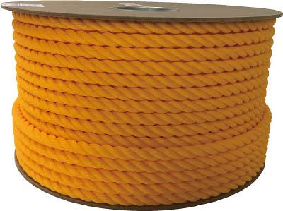 ユタカ ポリエチレンロープドラム巻 12mm×100m イエロー PRE60