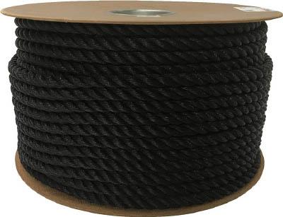 ユタカ ポリエチレンロープドラム巻 12mm×100m ブラック PRE64