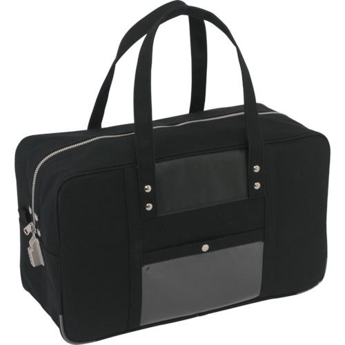 SANEI 帆布メール用ボストン(L)SED-1錠付 黒 BTLSED01【送料無料】