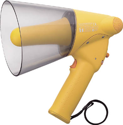 TOA 小型ハンド型メガホン ホイッスル音付き【ER-1106W】(安全用品・標識・拡声器)