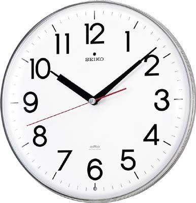 SEIKO アクリルカバー電波掛時計 直径294×47 白【KX301H】(OA・事務用品・掛時計)