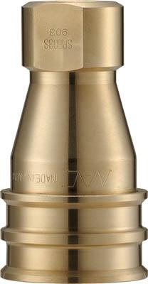 ナック クイックカップリング SPE型 真鍮製 大流量型 オネジ取付用【CSPE06S2】(流体継手・チューブ・カップリング)