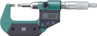 SK デジタル直進式ブレードマイクロメータ【MCD235-50BA】(測定工具・マイクロメーター)