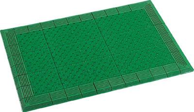テラモト テラエルボーマット900×1500mm緑【MR-052-052-1】(床材用品・マット)