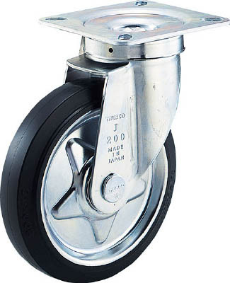 TRUSCO エコ運搬車用 空気タイヤ 自在キャスターφ220 ゴム車【SD-220ARJ】(運搬台車・合板製運搬車)