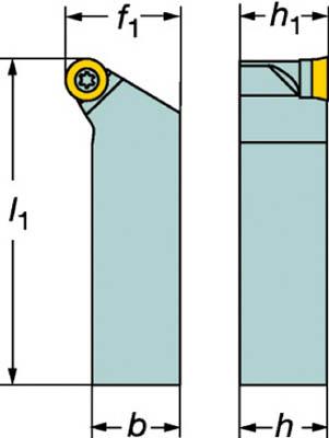 サンドビック コロターン107 ポジチップ用シャンクバイト【SRSCR 2525M 10】(旋削・フライス加工工具・ホルダー)