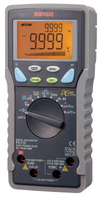 SANWA 真の実効値対応デジタルマルチメータ パソコン接続型【PC710】(計測機器・マルチメーター)