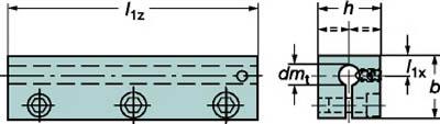 サンドビック 丸シャンクバイト用イージーフィックス角シャンクスリーブ【131-2516-B】(旋削・フライス加工工具・ホルダー)