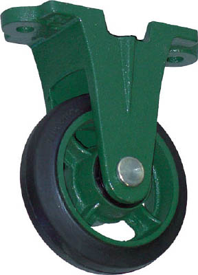 TRUSCO 鋼鉄製運搬車用 鋳物金具自在キャスターφ200ゴム車【TAJ-200】(運搬台車・合板製運搬車)