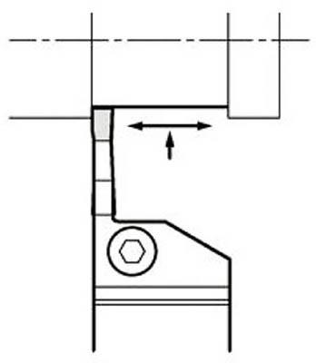 京セラ 溝入れ用ホルダ 【KGDL2020K-2T10】(旋削・フライス加工工具・ホルダー)