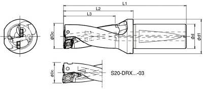 安い 京セラ ドリル用ホルダ 【S25-DRX220M-2-07】(旋削・フライス加工工具・ホルダー):リコメン堂生活館-DIY・工具