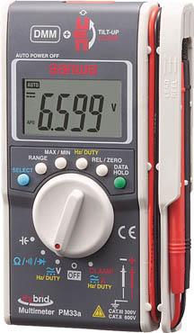 SANWA ハイブリッドミニテスタ ケース付(マルチメータ+クランプメータ)【PM33AC】(計測機器・マルチメーター)