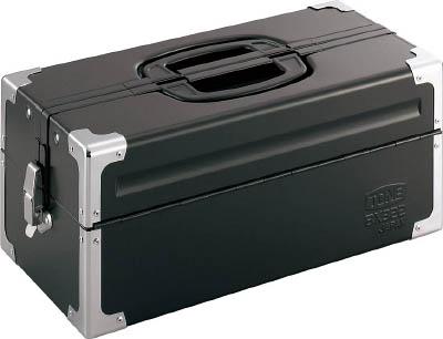ツールケース(メタル) TONE V形2段式 マットブラック【BX322BK】(工具箱・ツールバッグ・スチール製工具箱)