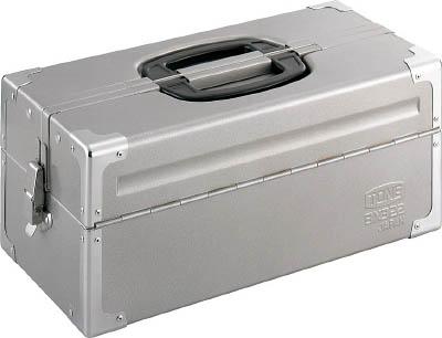 TONE シルバー【BX322SV】(工具箱・ツールバッグ・スチール製工具箱) V形2段式 ツールケース(メタル)