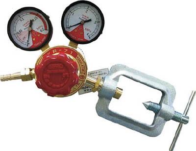 ヤマト 全真鍮製アセチレン調整器 YR-71【N-YR71】(溶接用品・ガス調整器)