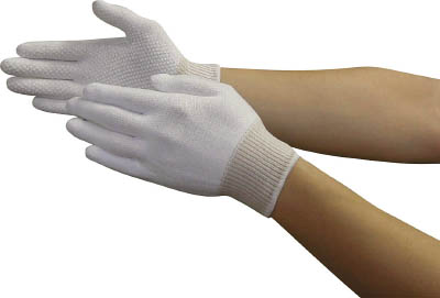 トワロン カットレジストスベリ止付(10双入) M【149-M】(作業手袋・耐切創手袋)