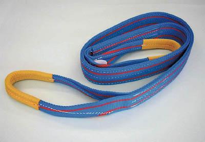 TESAC ブルースリング(JIS3等級・両端アイ形)【3E100X4】(吊りクランプ・スリング・荷締機・ベルトスリング)