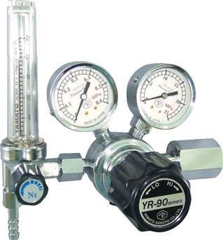 汎用小型圧力調整器 YR-90F(流量計付)【YR90FN2TRC】(溶接用品・ガス調整器)