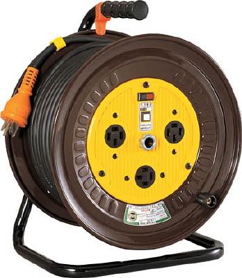 日動 電工ドラム 三相200Vドラム アース付 30m【ND-E330-20A】(コードリール・延長コード・コードリール200V)