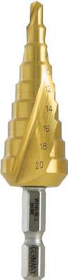 ウイニングボア ステップドリル ピラミッドドリル 4~20mmチタンコーティング【RSD-2T】(穴あけ工具・ステップドリル)