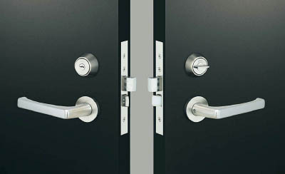 MIWA レバーハンドル錠【TRLA20-1】(建築金物・工場用間仕切り・鍵)
