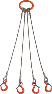 大洋 4本吊 ワイヤスリング 1.6t用×1m【4WRS 1.6TX1】(吊りクランプ・スリング・荷締機・チェーンスリング)