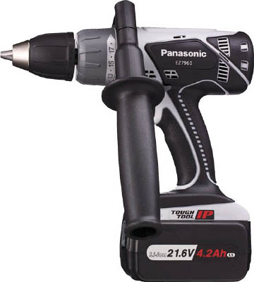 Panasonic 21.6V振動ドリル&ドライバー【EZ7960LS1S-B】(電動工具・油圧工具・ドリルドライバー)(代引不可)
