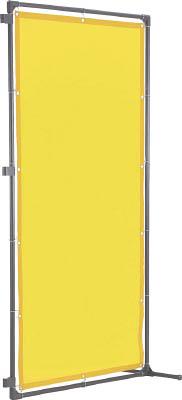 TRUSCO 溶接遮光フェンス 1515型接続 固定足 黄【YF1515SK-Y】(溶接用品・溶接遮光フェンス)
