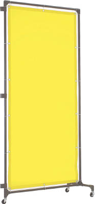 TRUSCO 溶接遮光フェンス 1515型接続 キャスター 黄【YF1515S-Y】(溶接用品・溶接遮光フェンス)