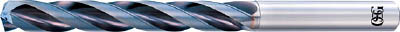 OSG 超硬油穴付き3枚刃メガマッスルドリル5Dタイプ【TRS-HO-5D-15.5】(穴あけ工具・超硬コーティングドリル)