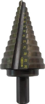 エビ ステージドリル 13段 軸径10mm【LB635】(穴あけ工具・ステップドリル)
