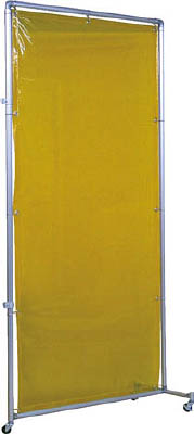 吉野 遮光フェンスアルミパイプ 1×2 接続キャスター イエロー【YS-12JC-Y】(溶接用品・溶接遮光フェンス)