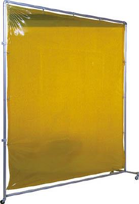 吉野 遮光フェンスアルミパイプ 2×2 接続キャスター イエロー【YS-22JC-Y】(溶接用品・溶接遮光フェンス)