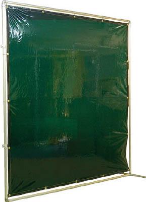 吉野 遮光フェンスアルミパイプ 2×2 接続固定 グリーン【YS-22JF-G】(溶接用品・溶接遮光フェンス)