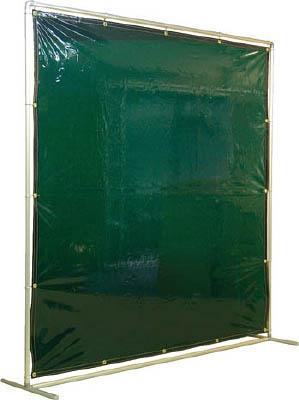 吉野 遮光フェンスアルミパイプ 2×2 単体固定 グリーン【YS-22SF-G】(溶接用品・溶接遮光フェンス)