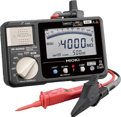 HIOKI 5レンジ絶縁抵抗計 スイッチ付きリード【IR4052-11】(計測機器・電気測定器)