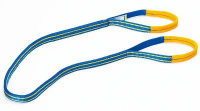 シライ シグナルスリングHG 両端アイ形 幅75mm 長さ4.0m【SG4E75-4】(吊りクランプ・スリング・荷締機・ベルトスリング)