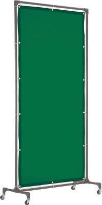 TRUSCO 溶接遮光フェンス 1020型単体 深緑【YFB-DG】(溶接用品・溶接遮光フェンス)
